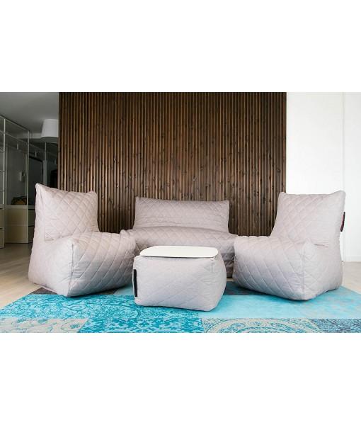 Zestaw Puf Pikowanych 2xSeat + Sofa Seat + Soft Table